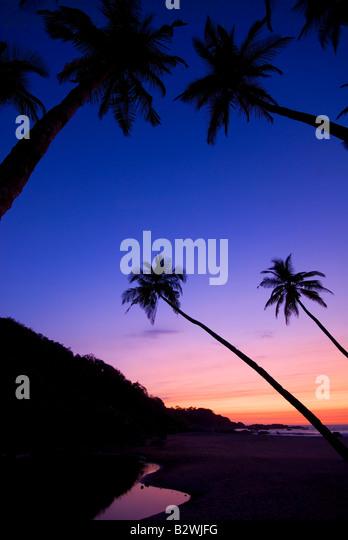 Sunset at Agonda Beach, South Goa, India, Asia - Stock-Bilder