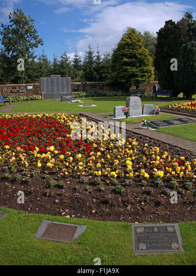 Lockerbie PanAm103 In Rememberance Memorial Garden, side View, summer in Scotland - Stock Image
