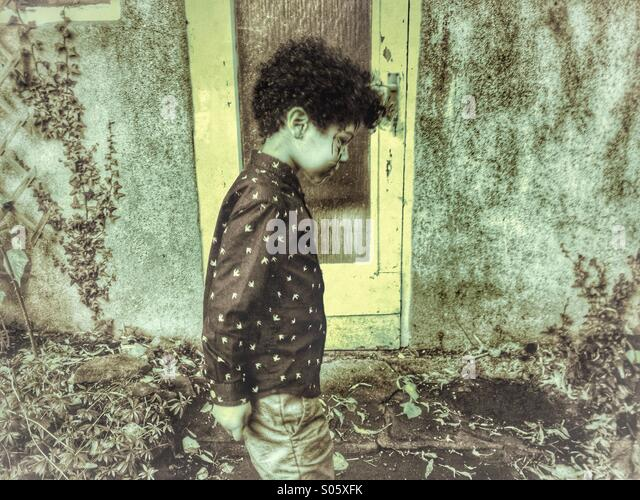 Lonely Child - Stock Image