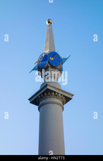 Sun Dial, Seven Dials, Covent Garden, London, UK - Stock Image