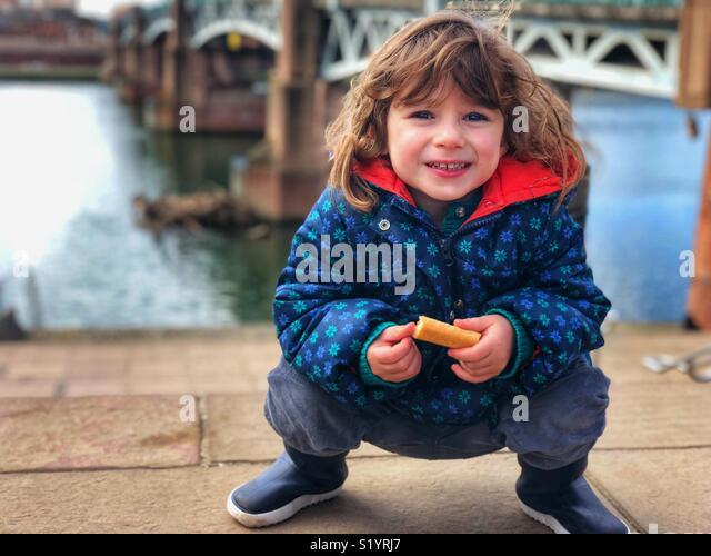 Beautiful children portrait Outdoors Toulouse France - Stock Image