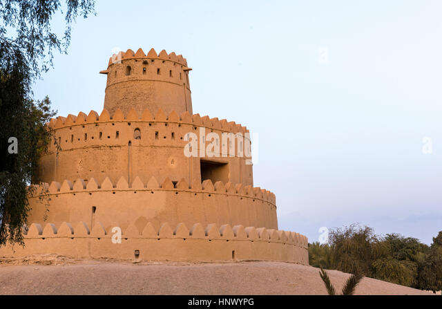 Al Jahili Fort, Al Ain, United Arab Emirates.  Former home of the Al Nahyan ruling family of the Abu Dhabi Emirate - Stock Image