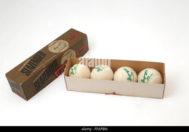1969 Nylon-Armoured Slazenger Tennis Balls - Stock Image