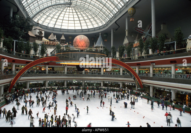South Korea Asia Far East Seoul Lotte World indoor shopping entertainment complex ice skating rink - Stock Image