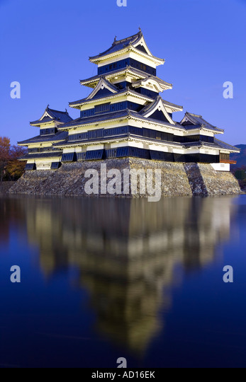 Matsumoto-Jo Castle, Matsumoto, Chubu province, Honshu, Japan - Stock Image