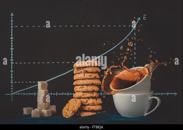 Energy curve - Stock Image
