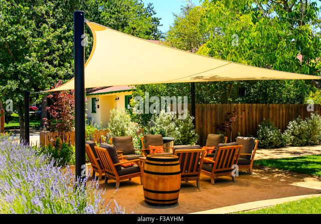 Seating area garden decking stock photos seating area for Garden decking seating