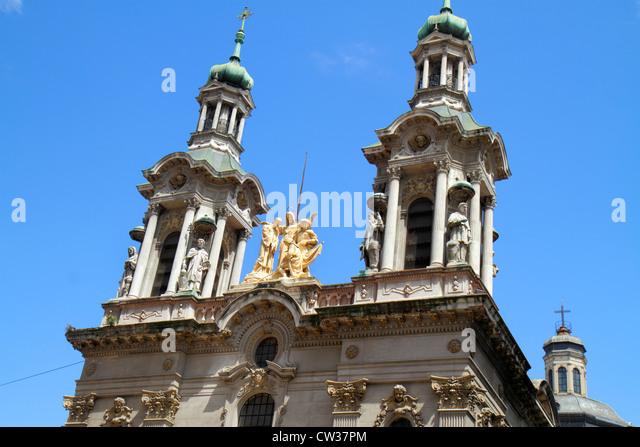 Argentina Buenos Aires Avenida Adolfo Alsina Basilica of San Francisco St. Francis Basilica catholic church National - Stock Image