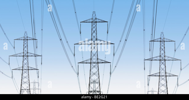 National Grid Electricity Pylons, Oxfordshire, United Kingdom. - Stock Image