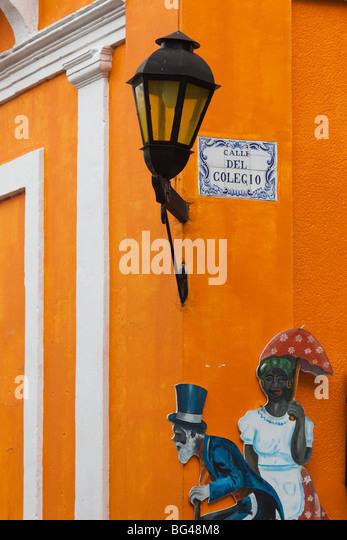Uruguay, Colonia del Sacramento, shop detail - Stock Image
