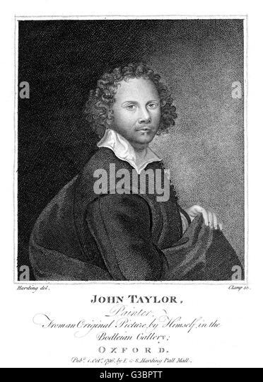 JOHN TAYLOR artist, nephew of John Taylor  the poet.        Date: CIRCA 1796 - Stock-Bilder