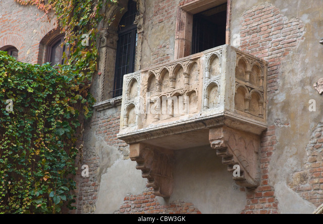 Verona balcony stock photos verona balcony stock images for Famous balcony