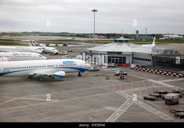 charter and low cost airlines terminal dublin airport terminal 1 ireland - Stock Image