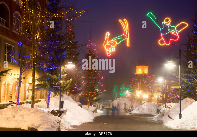Whistler Village host of the 2010 Vancouver Winter Olympics Whistler British Columbia Canada - Stock Image