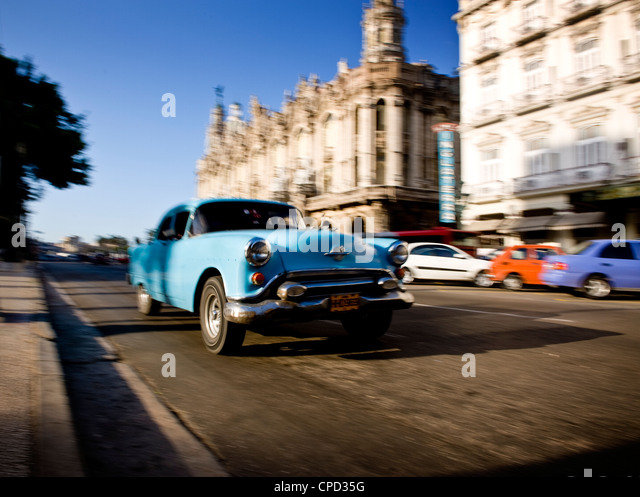 Paseo de Marti, Central Havana, Cuba, West Indies, Central America - Stock Image