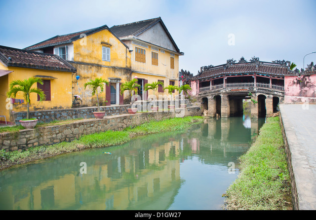 Japanese Bridge, Hoi An, Vietnam, Indochina, Southeast Asia, Asia - Stock Image
