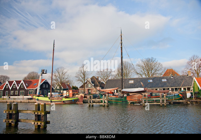 Het Oorgat (canal)  in Edam, Holland - Stock Image