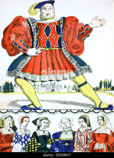 Henry VIII, King of England from 1509, (1932). Artist: Rosalind Thornycroft - Stock Image