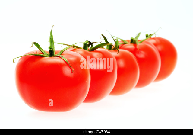 Fresh tomato - shallow depth of field - studio shot - Stock Image