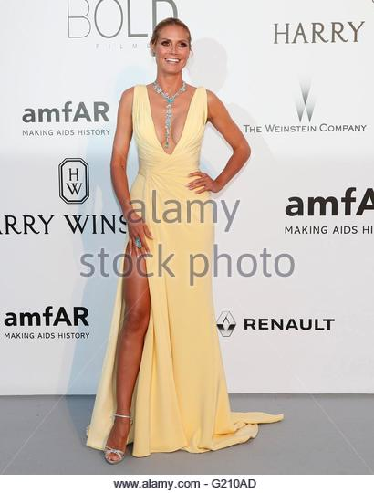 epa05317624 German model Heidi Klum attends the Cinema Against AIDS amfAR gala 2016 held at the Hotel du Cap, Eden - Stock Image