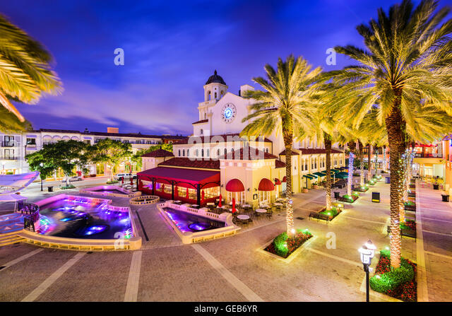 Okeechobee Boulevard West Palm Beach Florida  Usa