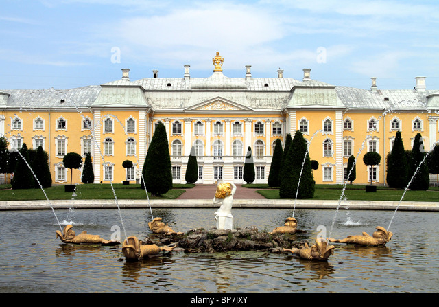 Peterhof Palace and Garden in St. Petersburg, Russia - Stock Image