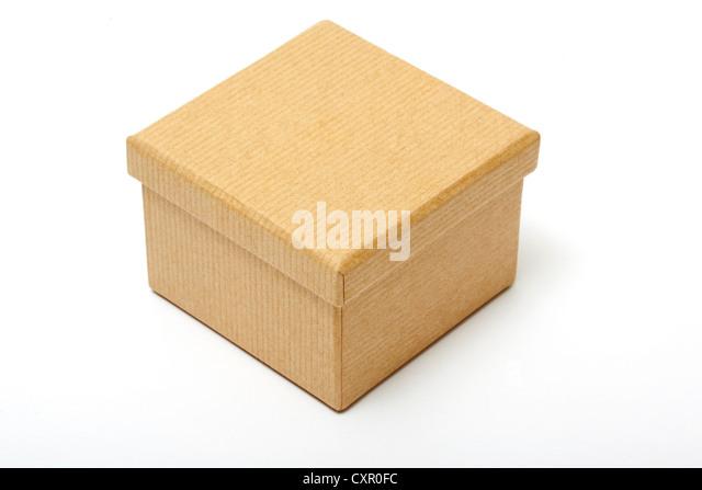 Brown paper box - Stock Image