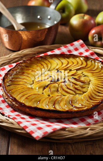 Tarte fine aux pommes French apple tart - Stock-Bilder