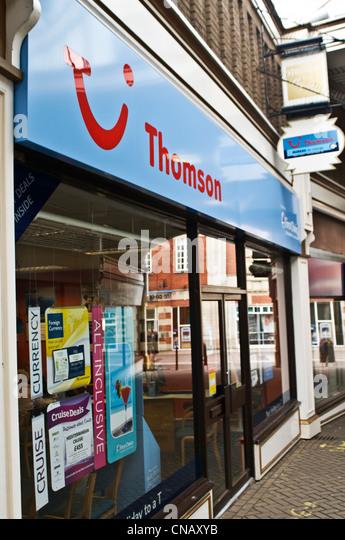 A Thomson travel agents store - Stock-Bilder