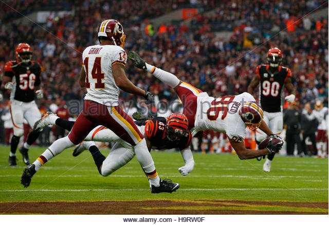 Britain American Football - Cincinnati Bengals v Washington Redskins - NFL International Series - Wembley Stadium, - Stock Image