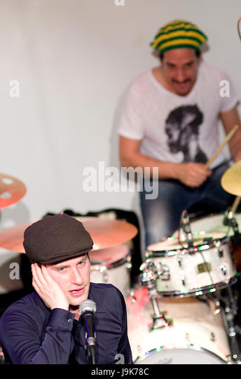 Captain Ska in a 2014 performance in London. Their protest song 'Liar, Liar' has attracted thousands of - Stock Image