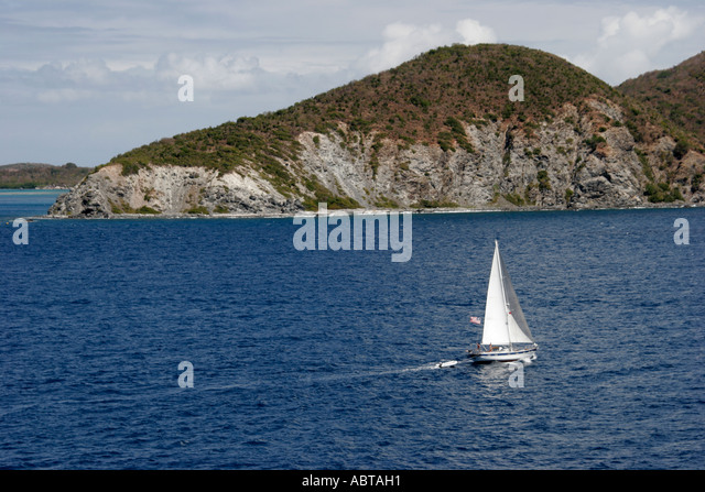 BVI Tortola Caribbean Sea Sir Francis Drake Channel Beef Island - Stock Image