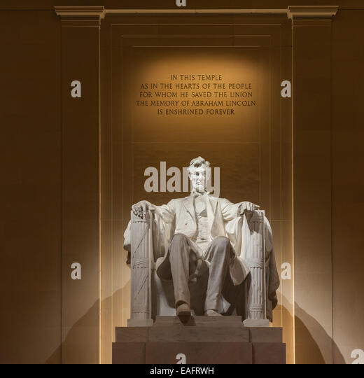 The Lincoln Memorial is an American national monument built to honor the 16th President of the United States, Abraham - Stock-Bilder