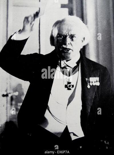 David Lloyd George, 1st Earl Lloyd-George of Dwyfor, OM PC (17 January 1863 – 26 March 1945) was a British Liberal - Stock Image