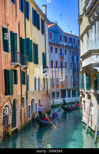 Italy, Europe, travel, Venice, Gondolas, boats, canal, gondola, tourism, Unesco, - Stock-Bilder