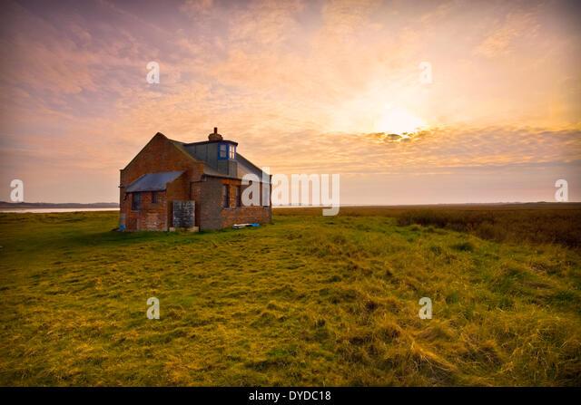 Former coastguard lookout on Blakeney Point. - Stock Image