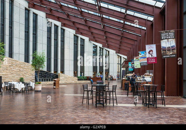 Interior of lobby of the Country Music Hall of Fame and Museum in downtown Nashville, Tennessee - Stock Image