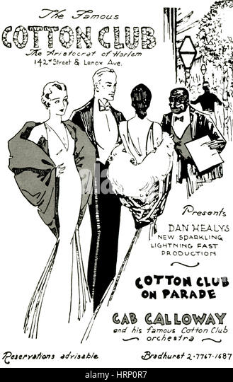 Cotton Club, The Aristocrat of Harlem - Stock Image