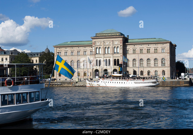 Nationalmuseum, Blasieholmen, Stockholm. - Stock Image