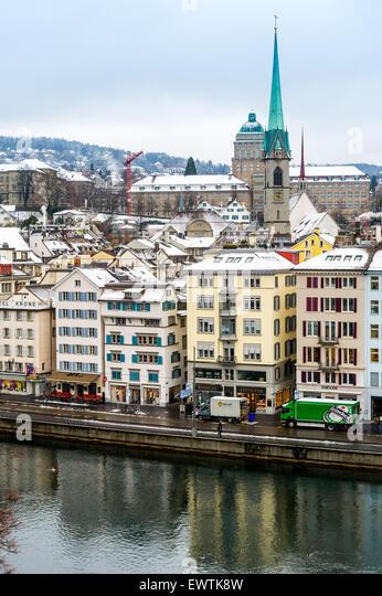 Skyline of Zurich Switzerland, Europe - Stock Image
