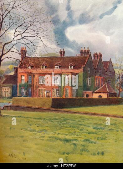 'Barrow Green court, Oxted', 1913, (1914). Artist: James S Ogilvy. - Stock Image