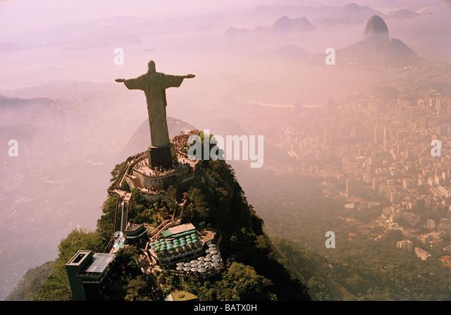 Brazil, Rio de Janeiro, Christ The Redeemer statue - Stock-Bilder