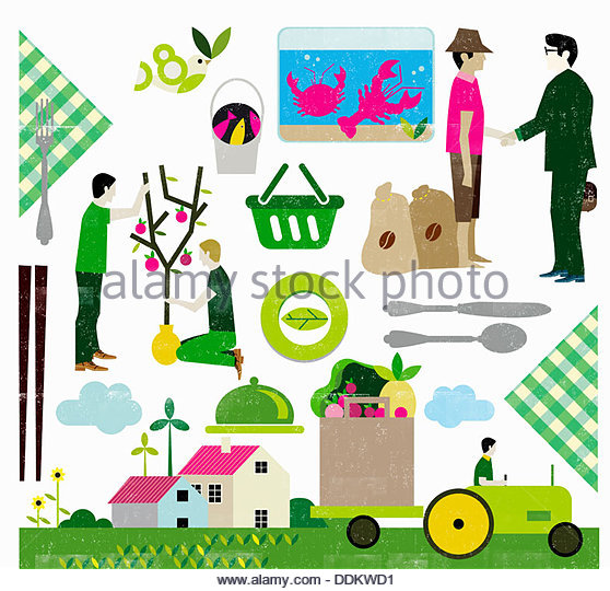 Eco-friendly food production - Stock Image