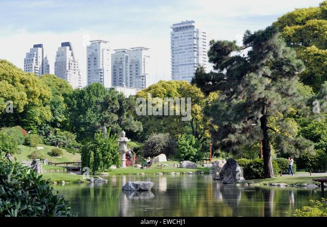 Japanesse garden, Buenos Aires, Argentina - Stock Image
