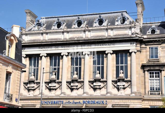 Universite  Victor Segalen Bordeaux 2 - Stock Image