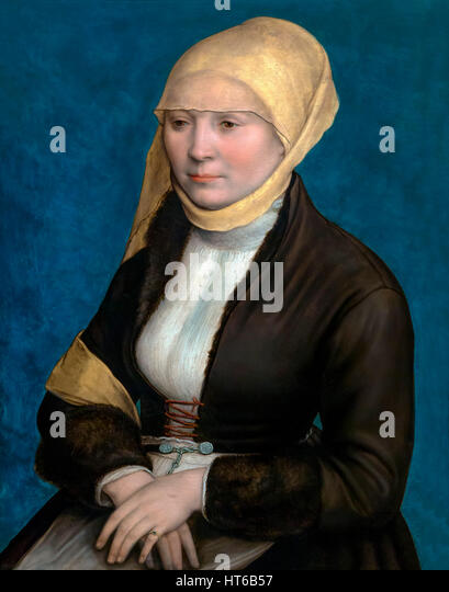 Portrait of a Woman from Southern Germany, by Hans Holbein the Younger, circa 1520-5, Royal Art Gallery, Mauritshuis - Stock Image
