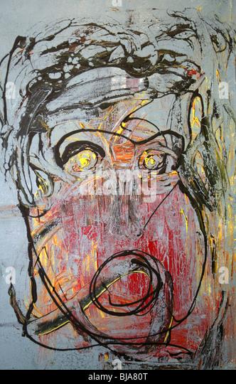 Mixed media art work - Stock Image