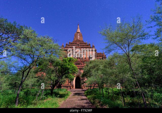 Bagan, Myanmar at Sulamani Temple at night. - Stock-Bilder