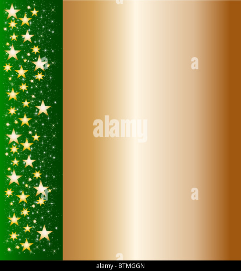 illustration of a christmasframe with stars - Stock Image