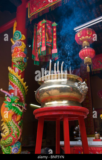 Incense sticks Guan Ti Temple Chinatown Kuala Lumpur Malaysia - Stock Image